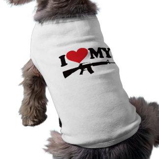 Amo mi AR15 Playera Sin Mangas Para Perro