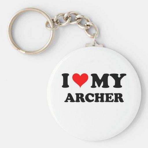 Amo mi Archer Llavero Redondo Tipo Pin