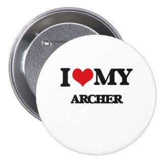Amo mi Archer Pin Redondo De 3 Pulgadas