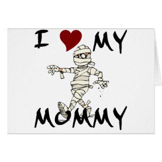 Amo mi artículo de la momia tarjeta