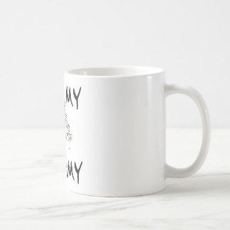 Amo mi artículo de la momia taza de café