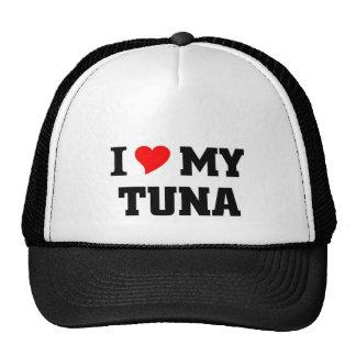 Amo mi atún gorras de camionero
