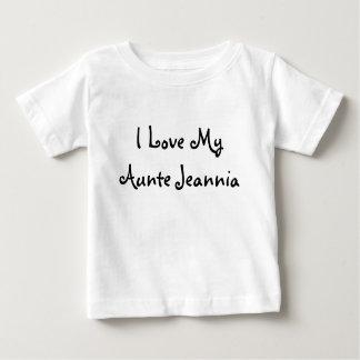 Amo mi Aunte Jeannia Playera De Bebé