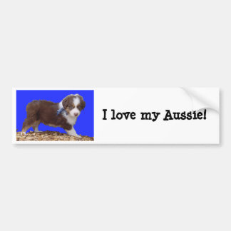 ¡Amo mi Aussie! Pegatina para el parachoques Pegatina Para Auto