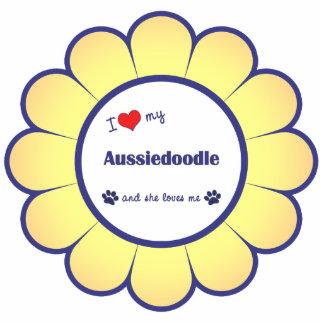 Amo mi Aussiedoodle (el perro femenino) Adorno Fotoescultura