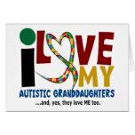 Amo mi AUTISMO autístico de las nietas 2 Tarjeton