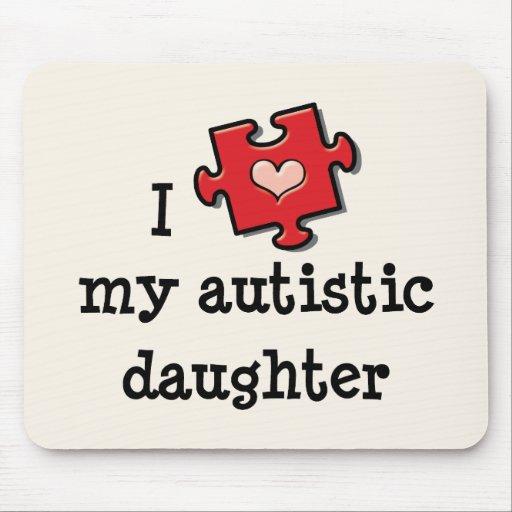 Amo mi autismo autístico Mousepad de la hija Alfombrilla De Ratones