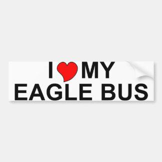 Amo mi autobús de Eagle Etiqueta De Parachoque