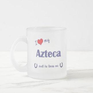 Amo mi Azteca (el caballo masculino) Tazas De Café
