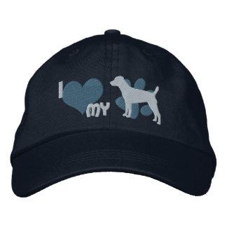 Amo mi azul bordado Terrier del gorra de Patterdal Gorros Bordados