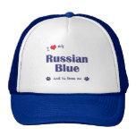 Amo mi azul ruso (el gato masculino) gorra