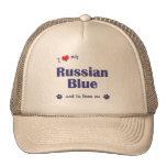Amo mi azul ruso (el gato masculino) gorros