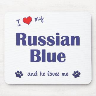 Amo mi azul ruso (el gato masculino) tapetes de ratones