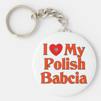 Amo mi Babcia polaco (la abuela) Llavero
