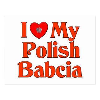 Amo mi Babcia polaco (la abuela) Postal
