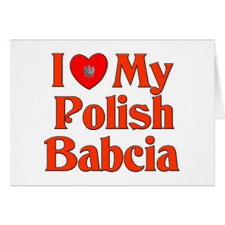 Amo mi Babcia polaco (la abuela) Tarjeta De Felicitación