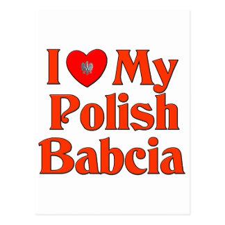 Amo mi Babcia polaco (la abuela) Tarjetas Postales