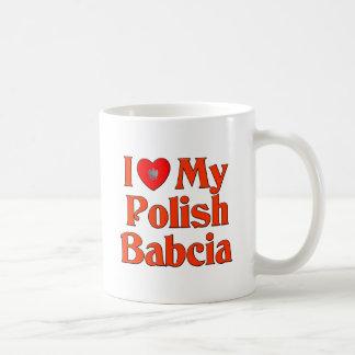 Amo mi Babcia polaco (la abuela) Taza Clásica