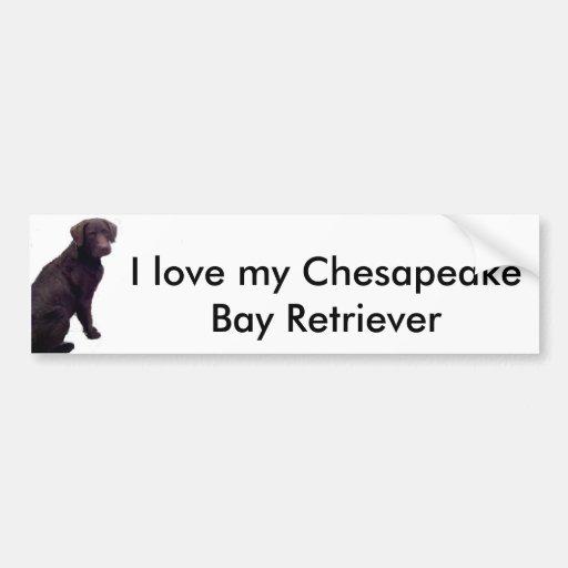 Amo mi bahía de Chesapeake… Pegatina Para Auto