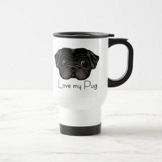 Amo mi barro amasado negro taza de café