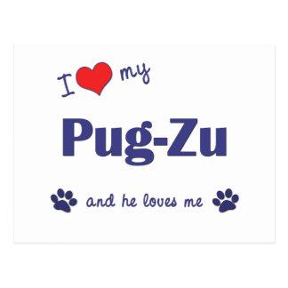 Amo mi Barro amasado-Zu (el perro masculino) Postales