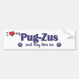 Amo mi Barro amasado-Zus (los perros múltiples) Pegatina Para Auto