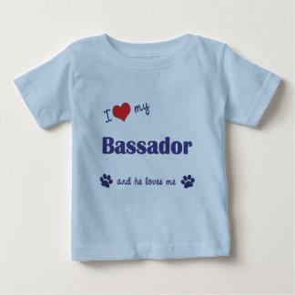 Amo mi Bassador (el perro masculino) Playera De Bebé