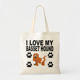 Amo mi Basset Hound Bolsa Tela Barata