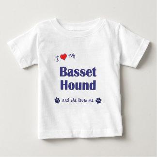 Amo mi Basset Hound (el perro femenino) Playera De Bebé