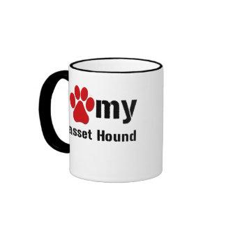Amo mi Basset Hound Tazas De Café