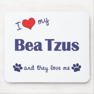 Amo mi Bea Tzus (los perros múltiples) Tapete De Raton