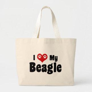Amo mi beagle bolsas