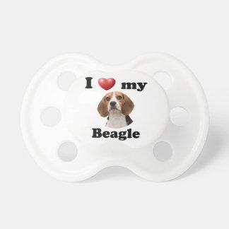 Amo mi beagle chupete
