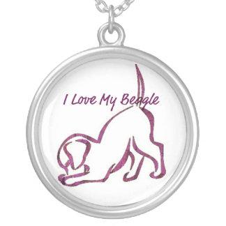 Amo mi beagle colgantes personalizados