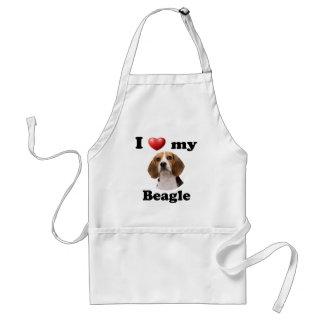 Amo mi beagle delantal