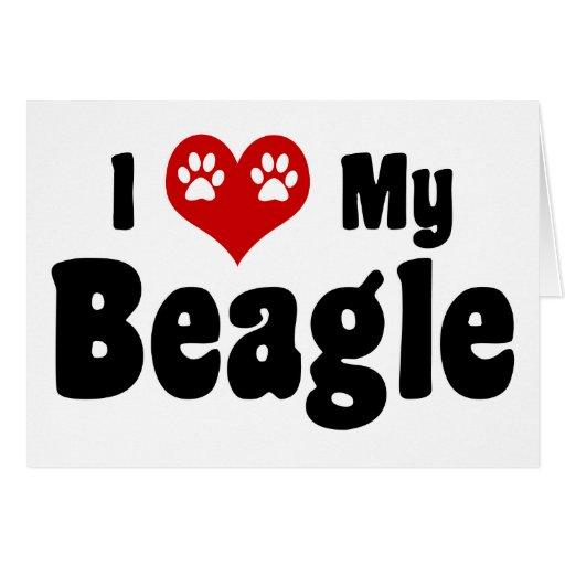 Amo mi beagle felicitación