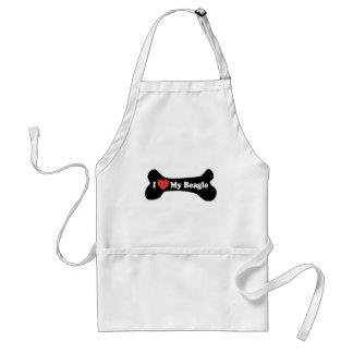 Amo mi beagle - hueso de perro delantal
