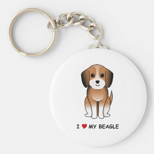 Amo mi beagle llavero redondo tipo pin