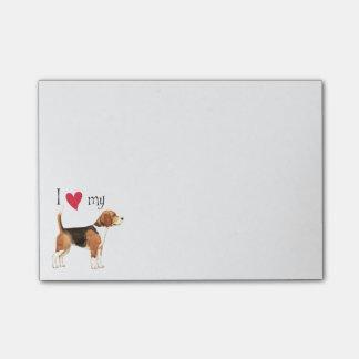 Amo mi beagle notas post-it®