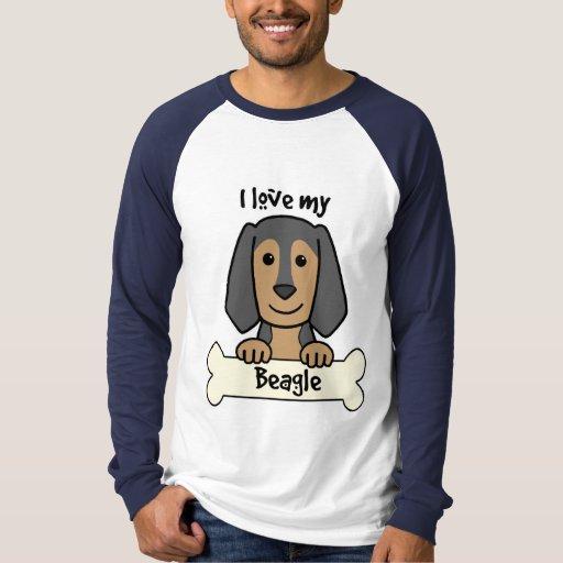 Amo mi beagle playera