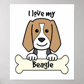 Amo mi beagle póster