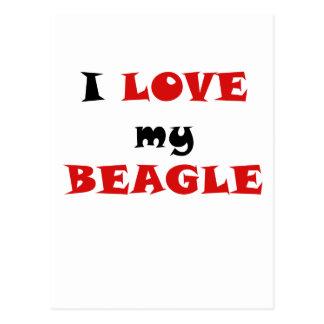 Amo mi beagle postales