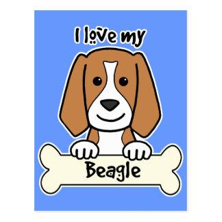 Amo mi beagle postal