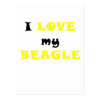 Amo mi beagle tarjetas postales