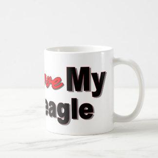 Amo mi beagle tazas de café