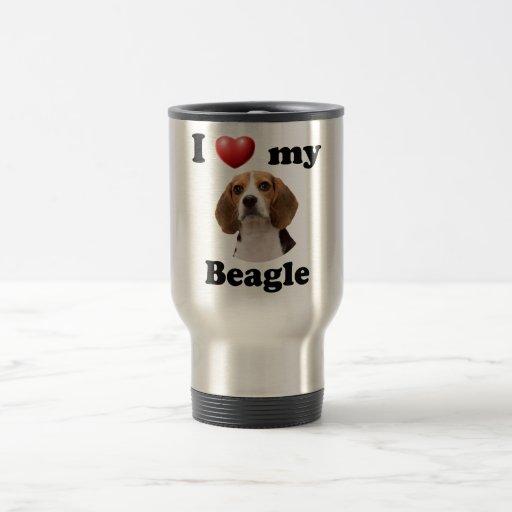 Amo mi beagle taza