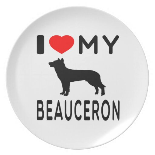 Amo mi Beauceron. Platos Para Fiestas