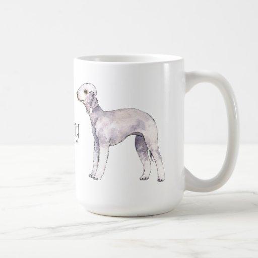 Amo mi Bedlington Terrier Taza Básica Blanca