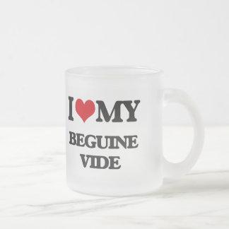 Amo mi BEGUINE VIDE Tazas De Café