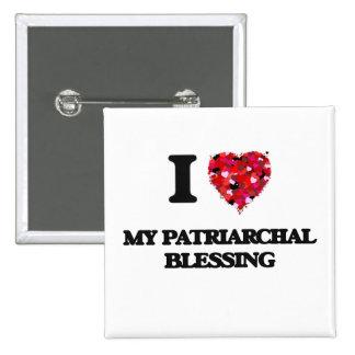 Amo mi bendición patriarcal pin cuadrada 5 cm